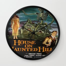 Vintage poster - House on Haunted Hill Wall Clock