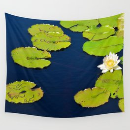 Dark Blue Pond by Teresa Thompson Wall Tapestry