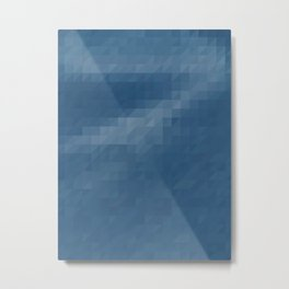 quinlan - ice blue ombre gradient triangles Metal Print