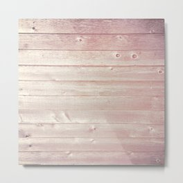 Beach Wood Texture Metal Print