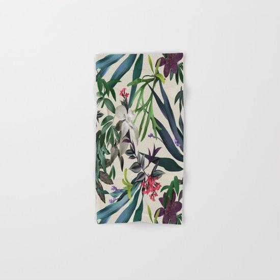 Tropical leaf pattern II Hand & Bath Towel