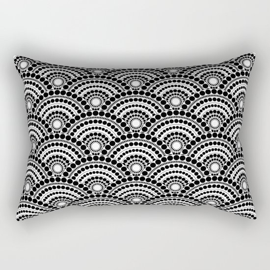 BLACK AND WHITE GEOMETRIC (abstract) Rectangular Pillow