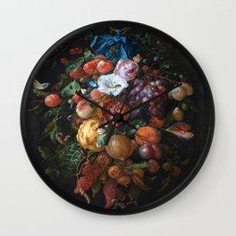 Dutch Floral Still life botanical print(digital download)PRINTABLE Art, botanical print, botanical Wall Clock