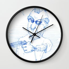 BLUE Puppet Gun Wall Clock