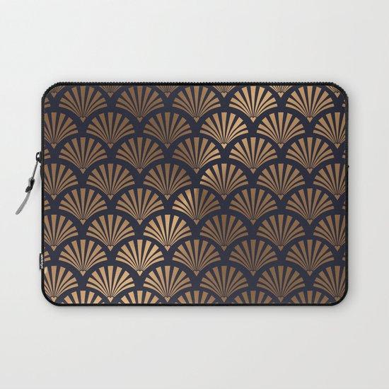 Art Deco Shell Pattern Laptop Sleeve