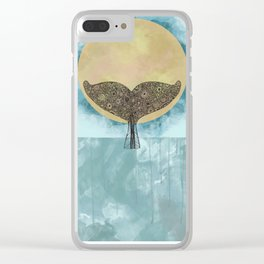 Sunset Whale Clear iPhone Case