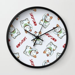 Maneki Neko Tenshu Wall Clock