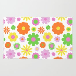 Vintage Daisy Crazy Floral Rug