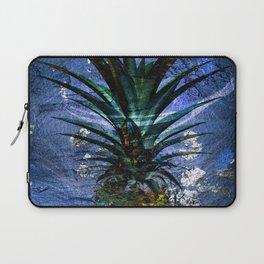 Silver Leaf Tropical Pineapple #buyart Laptop Sleeve