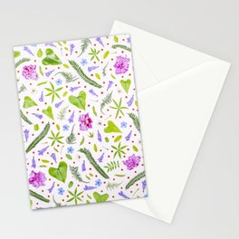 Leaves and flowers (8) Stationery Cards