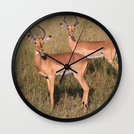 Boys Looking for Girls Wall Clock