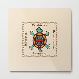 Turtle animal spirit Metal Print