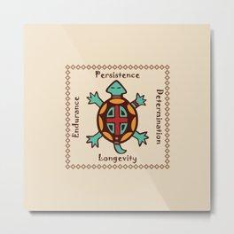 Turtle animal spirit Metal Print