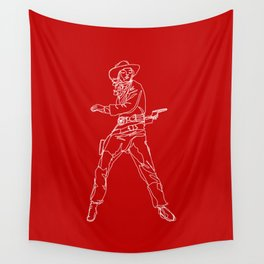 Crimson Cowgirl Wall Tapestry