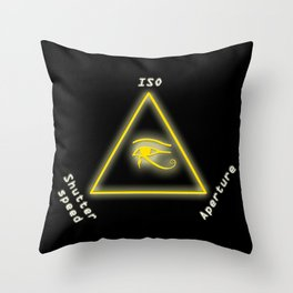 Exposure triangle Throw Pillow