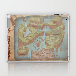 Super Mario World Map (Vintage Style) Laptop & iPad Skin