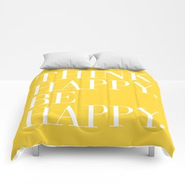 Think Happy. Be Happy. Comforters