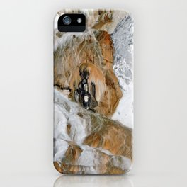 Travertine Mammoth Hot Springs Yellowstone iPhone Case