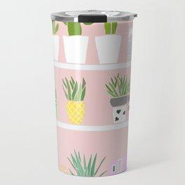 Cactus shelfie pink Travel Mug
