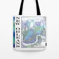 new orleans Tote Bags featuring New Orleans by Catherine Holcombe