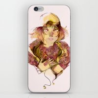haikyuu iPhone & iPod Skins featuring Haikyuu!- Kozume Kenma Print  by Moody Pink