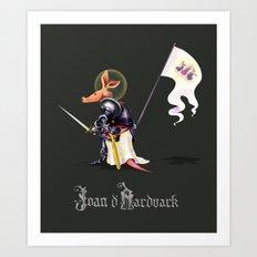 Joan D'Aardvark Art Print