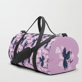 Birds & Bugs in Orchid Duffle Bag