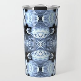 Shiny Blue Flower Design, Pattern Travel Mug