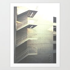 Industrial Stairs 02 Art Print