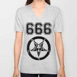 Baphomet 666 Unisex V-Neck