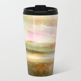 Sunset and flowers Metal Travel Mug