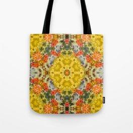 Marigold Kaleidoscope Photographic Pattern #1 Tote Bag