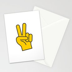 Hand Gesture - Peace Stationery Cards