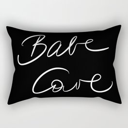 Babe Cave - Black and White Rectangular Pillow