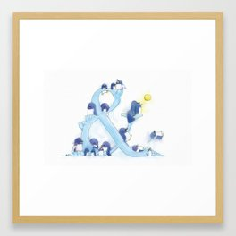 little blue penguin Framed Art Print