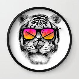 Tiger Sunglasses Wall Clock