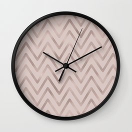 Mauve pink faux rose gold modern geometrical Wall Clock