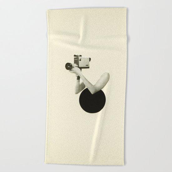 Film Noir Beach Towel