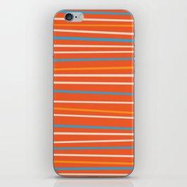 Orange Stripes iPhone Skin