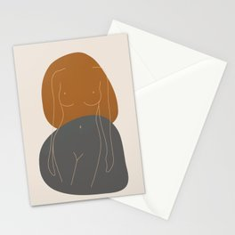 Line Female Figure 81 Stationery Cards