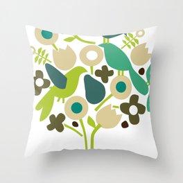 birdy num num Throw Pillow