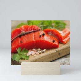 Fresh Copper River Salmon fillets Mini Art Print