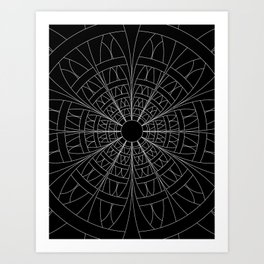 Jumping Through Hoops (White-Line Version) Art Print