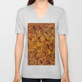 Abstract #9 Unisex V-Neck