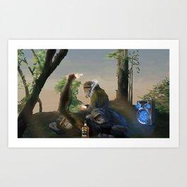 Drugged Monkeys Art Print