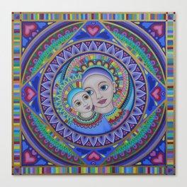Mother and Child Mandala Canvas Print