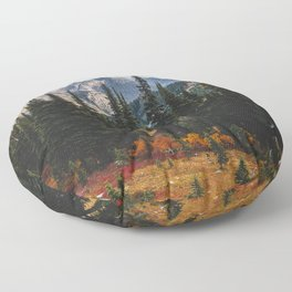 Autumn in North Cascades Floor Pillow
