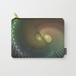 Fractal Spirals, Luminous And Psychedelic Carry-All Pouch