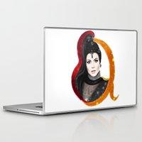 evil queen Laptop & iPad Skins featuring Regina, The Evil Queen by Clara J Aira