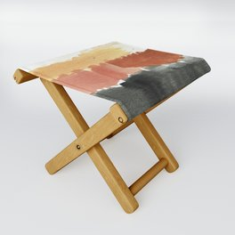 Abstract in Rust n Clay Folding Stool